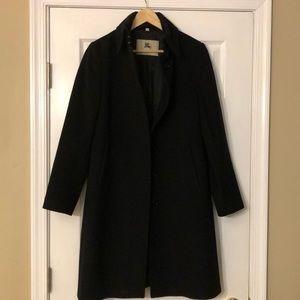 Burberry women's black coat, size 10